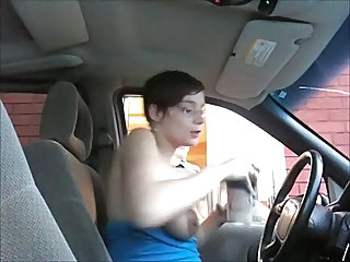Amateur Car Glasses MILF Public
