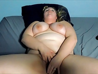 Amateur BBW Facial Masturbating MILF Wife