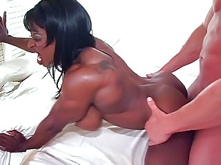 Ebony Hardcore Interracial Muscled