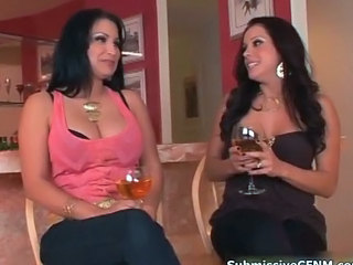 Hot devilish babes realize horny talking