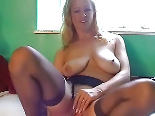 Amateur British European Masturbating MILF SaggyTits Solo Stockings