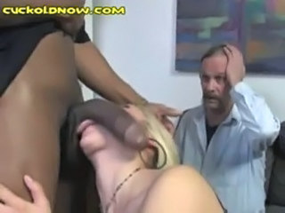 Big cock Blowjob Cuckold Interracial Threesome Wife