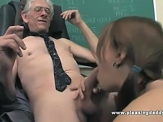 Blowjob Old and Young Pigtail School Student Teacher Young