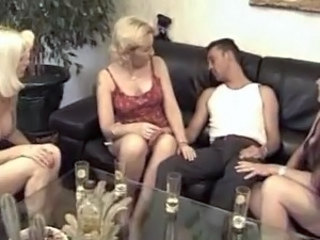 Drunk European French MILF Party