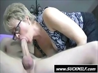 Big cock Blonde Blowjob Glasses MILF