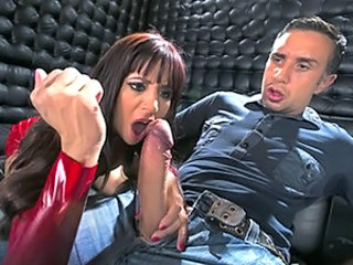 Big cock Handjob Latex MILF