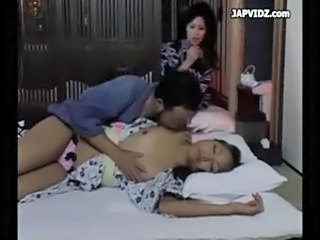 Asian Family Sleeping Teen