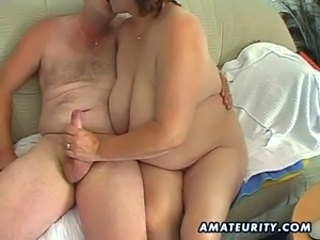 Chubby mature amateur wife sucks and fucks unorthodox