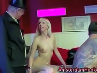 Cash European Skinny Teen Threesome