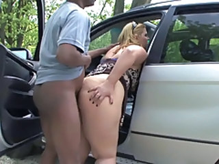 Car Chubby Doggystyle MILF Outdoor