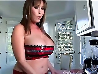 Big Tits Chubby Kitchen MILF Mom