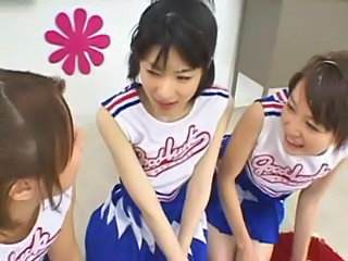 Asiatisk Cheerleader Japansk Tynn Tenåring Uniform