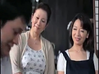 Asian Daughter Family Mature Mom Old and Young