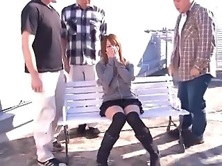 Asian Babe Gangbang Japanese Outdoor Pornstar