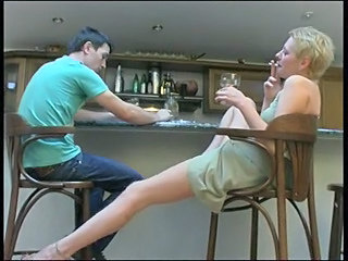 Drunk Legs MILF Mom Old and Young Russian Smoking
