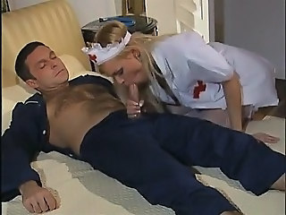 Blonde Blowjob MILF Nurse Uniform