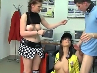 Original female domination movie shot inside the driving school about two...
