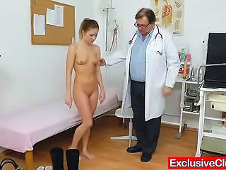 Doctor Old and Young Skinny Small Tits Teen