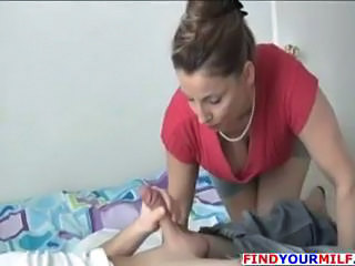Blowjob MILF Mom Old and Young Stockings
