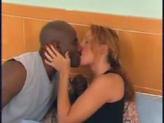 Interracial Kissing Mature MILF