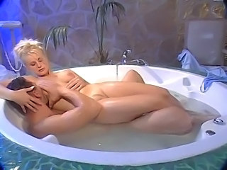 Amazing Bathroom Blonde MILF Pornstar Vintage