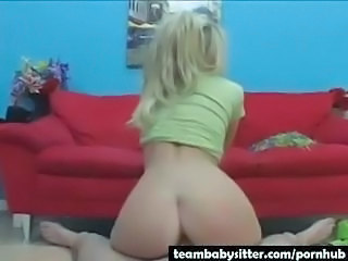 Ass Blonde Riding Teen