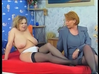 Big Tits European German Lesbian Mature Natural SaggyTits Stockings