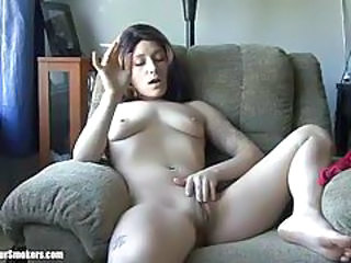 Amateur Masturbating Smoking Tattoo Teen