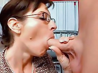 Blowjob Glasses MILF Old and Young