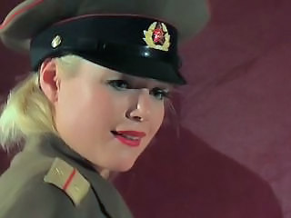 Anal Army Babe Blonde Uniform