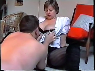 Amateur Big Tits MILF Natural Stockings Wife