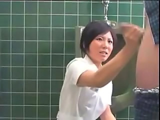 Asian Handjob Japanese Toilet Uniform