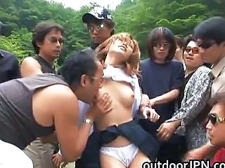 Asian Gangbang Outdoor Teen