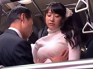 Asian Babe Bus Japanese Natural Public