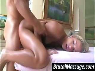 Blonde Doggystyle Massage Teen