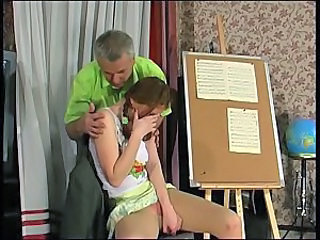 Daddy Old and Young Russian Student Teacher Teen