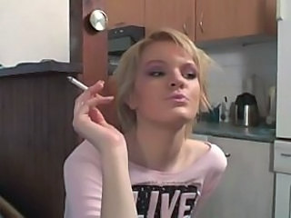 Kitchen Smoking Teen