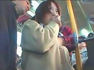 Shy Schoolgirl groped in Bus