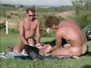 Fisting Outdoor Threesome Vintage