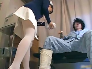 Asian Japanese Nurse Teen Uniform Upskirt