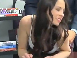 horny teacher fucks a waxed brunette
