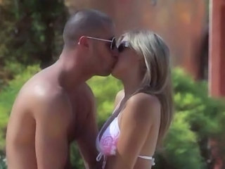 Bikini Kissing Outdoor Teen