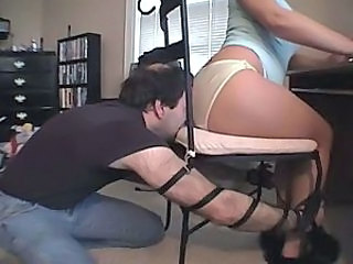 handcuffed to Chair Ass Worship with Farts