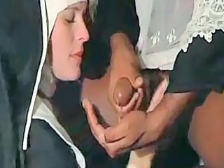 Cumshot Interracial Nun Uniform Vintage
