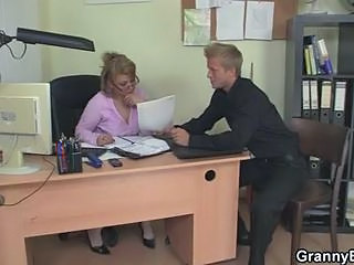 Glasses Mature Mom Office Old and Young Secretary