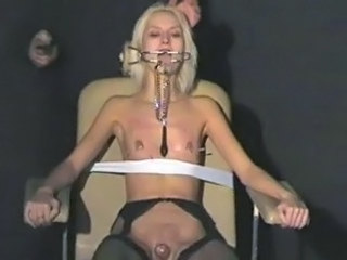 Smut blonde Wynters explicit piercing punishments and nipple tortured serf...