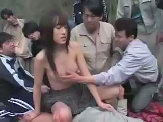 Asian Gangbang Japanese Outdoor Teen