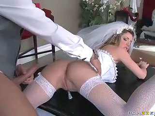 Ass Big cock Bride Hardcore MILF Stockings