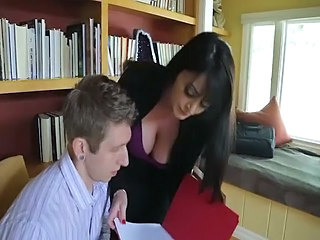 Amazing Big Tits Brunette MILF Natural Office Secretary
