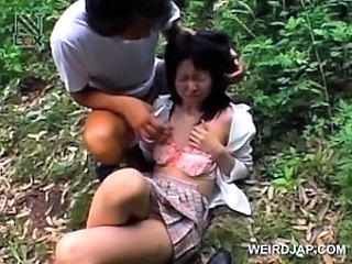 Asian Forced Outdoor Teen